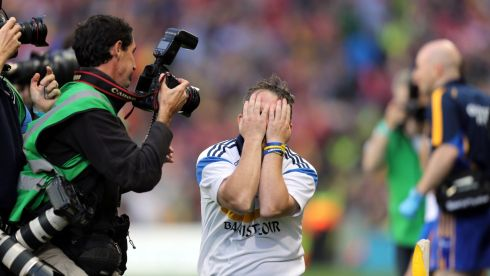 Clare's Davy Fitzgerald after the final whistle  at Croke Park. Photograph: Alan Betson/Irish Times