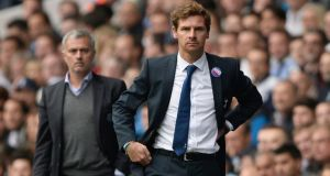 Tottenham Hotspur's manager Andre Villas-Boas (right) and Chelsea's Jose Mourinho walk the line during the weekend's fractious drawn game between the rival London clubs. Photograph: Reuters
