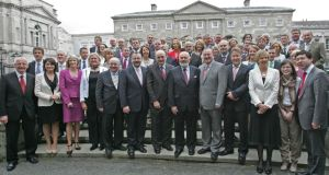 Members of the current Seanad pictured in May 2011: only 5 per cent of survey respondents said they would like to see the Seanad retained in its current form.  Photograph: Eric Luke.