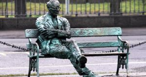 The statue of Patrick Kavanagh on the Grand Canal near Baggot Street bridge. Photograph: Eric Luke