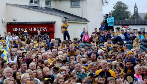 Waiting in Sixmilebridge. Photograph: James Crombie/INPHO