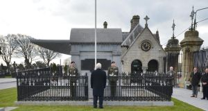 The chapel to commemorate the 232 people who died during the 1916 Rising, which is due to be completed to coincide with the the Easter 2016 centenary celebrations, will be built at Glasnevin Cemetery. Photograph: Alan Betson/The Irish Times
