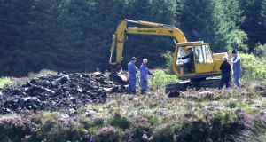 A previous search for the body of Columba McVeigh at Bragan bog in Co Monaghan. Photograph: Brenda Fitzsimons / The Irish Times