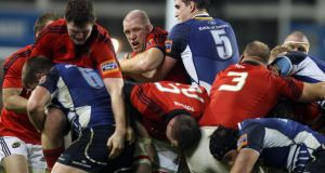 Leinster's Devin Toner is looking forward to renewing battle with Donnacha Ryan and Paul O'Connell at Munster's Thomond Park on Saturday. Photograph: Dan Sheridan/Inpho