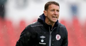 Sligo Rovers manager Ian Baraclough saw his side held scoreless. Photograph: James Crombie/Inpho