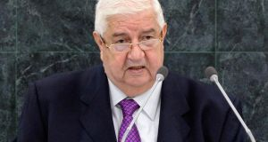 "Syrian foreign minister Walid al-Moualem: ""How can some countries, hit by the same terrorism we are suffering now in Syria, claim to fight terrorism in all parts of the world while supporting it in my country?"" Photograph: Adrees Latif/Reuters"