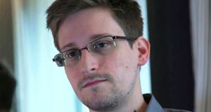 Edward Snowdon is wanted for leaking details of government surveillance programes. Photograph: Glenn Greenwald/Laura Poitras/Courtesy of The Guardian