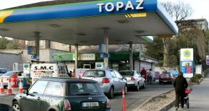 The Topaz garage in Kilmainham, Dublin. The fuels and convenience retailer is to create 100 new jobs at two new motorway service stations in Carlow and Laois. Photo: David Sleator/The Irish Times