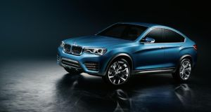 The BMW X4 concept car: to be unveiled in January