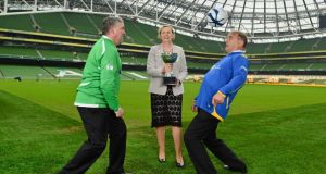 Politicians vs the Hacks! ESB Charity Challenge 2013. With just weeks to go before the budget, TDs and senators are not only readying themselves for criticism from the public but are in training for a battle against reporters. Photograph: Barry Cregg/Sportsfile