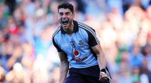 Full-forward line -  James O'Donoghue, Bernard Brogan (above), Diarmuid Connolly:  James O'Donoghue came into his own this summer, playing well against Cork in Killarney and especially against Dublin in the semi-final. Brogan is still Dublin's go-to guy and he came through his sticky patch to win them the All-Ireland. Connolly has to be included as well – he's probably Dublin's most natural footballer but he's grown up as well this year to fulfil his potential.