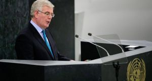 Eamon Gilmore addressing the 68th session of the United Nations General Assembly at UN headquarters in New York last month. Photograph: Ray Stubblebine / Reuters