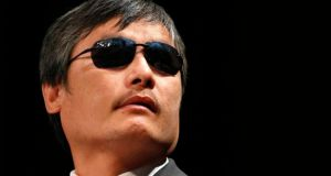 Chen Guangcheng, whose position at Columbia University in New York was not renewed  after a year. Photograph: Brendan McDermid/Reuters
