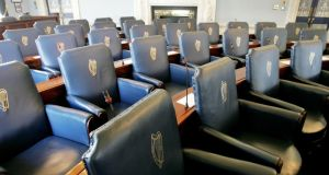 The Government suffered an embarrassing defeat in the Seanad tonight in advance of Friday's referendum to abolish it.Photograph: Alan Betson/The Irish Times
