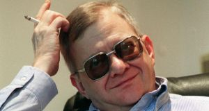 Tom Clancy at his home in Calvert County, Maryland in 1998.