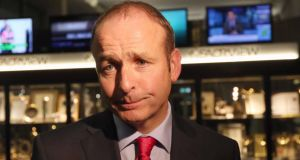 "Fianna Fáil leader Micheál Martin said: ""The Central Bank is warning of a €9.3 billion mortgage debt mountain."""
