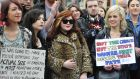 Pro-choice demonstrators at a demonstration in Dublin last year. Photograph: Aidan Crawley