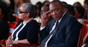 Kenyan President Uhuru Kenyatta denies committing crimes against humanity and says his absence is dangerous and untenable.