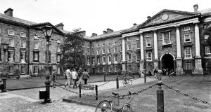 Front Square: Trinity College Dublin in the 1980s. Photograph: Peter Thursfield