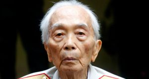 Vietnamese General Vo Nguyen Giap is seen at a residence in Hanoi in  August 2008. General Vo Nguyen Giap, architect of Vietnam's military victories over France and the United States, died today, of natural causes, family members and a hospital source said. He was 102. Photograph: Kham/Files/Reuters