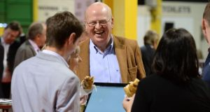 Michael McDowell, who has campaigned for a No vote, in the RDS count centre. Photograph: Dara Mac Dónaill / The Irish Times