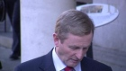 Taoiseach Enda Kenny reacts to the Government's defeat on the proposal to abolish the Seanad.