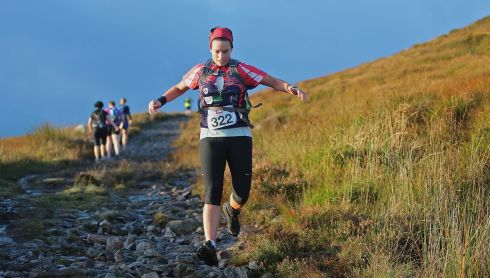 Jill Barry, on Strickeen Mountain, competing in The Helly Hensen Killarney Adventure Race,   in Killarney National Park. Photo: Valerie O'Sullivan