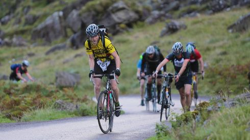Damian Landy, on Gap of Dunloe, competing in The Helly Hensen Killarney Adventure Race  in Killarney National Park over the weekend.  Photo : Valerie O'Sullivan
