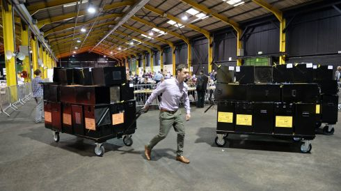 Irish Times Photographer Dara MacDonaill 's set of pics from the Referendum Count Centre  at the RDS Dublin and Dublin Castle where the results were announced on Saturday.  Photos: Dara Mac Donaill / THE IRISH TIMES
