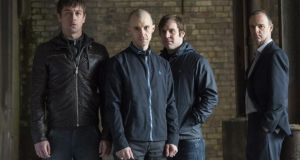 They're back: Killian Scott as Tommy, Tom Vaughan-Lawlor as Nidge, Peter Coonan as Fran and Brían F. O'Byrne as Detective Inspector Mick Moynihan