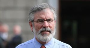 Sinn Fein president Gerry Adams: has been criticised within his own party over his handling of sex abuse allegations against his brother Liam. Photograph: Niall Carson/PA Wire
