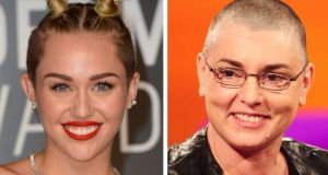 Left to right, Miley Cyrus and Sinead O'Connor: Cyrus's naive admonition of O'Connor has been nearly universally condemned. photograph: pa wire