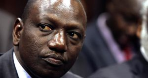 William Ruto in Kenya's high court in Nairobi in October 2010. Photograph: Reuters