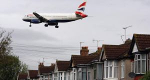 A study published online by the 'British Medical Journal' looking at the health of people living near Heathrow airport found those with the highest exposure were 10-20 per cent more likely to be admitted to hospital for stroke, heart disease and cardiovascular illness. Photograph: Steve Parsons/PA