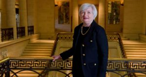 President Barack Obama will nominate Janet Yellen as chairwoman of the Federal Reserve later today, administration officials said last night, ending an unusually public search to fill one of the most important economic policy-making jobs in the world. Photograph: Mary F Calvert/The New York Times