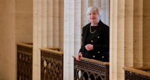 Janet Yellen, president Barack Obama's nominee to succeed the Federal Reserve chairman Ben Bernanke, at the end of January, at the Marriner S Eccles Federal Reserve Board Building in Washington.