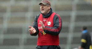 "Carlow manager John Meyler: ""If we had to drop down another division again that would probably set us back a year or two, but whatever advantages we did gain this year, we believe we can build on again."" Photograph: Inpho"