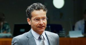Dutch finance minister and Eurogroup chairman Jeroen Dijsselbloem was due to attend IMF talks in Washington today. Photograph: Francois Lenoir/Reuters