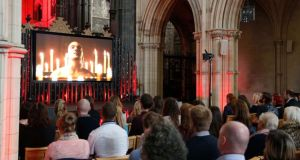 Irish premiere screening of Sky Living's   series Dracula was held in Christ Church Cathedral, Dublin, yesterday. Photograph: Robbie Reynolds