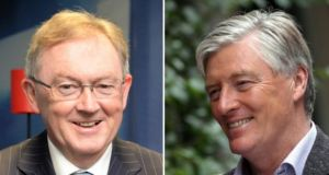 Sean O'Rourke's (left) programme has an audience of almost 230,000 while Pat Kenny had hoped either Mr Noonan or Mr Howlin would have been made available for his new Newstalk programme.