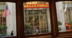 Wells Fargo reported its third-quarter results today.  Photograph: Robert Galbraith/Reuters