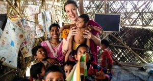 India: recent graduate Kate Doyle at Betberia School in Kolkata