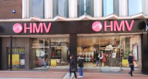 Pop-up population: the vacant former HMV shop on Grafton Street, Dublin. Photograph: Virtual Shopfronts