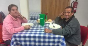 Mario Silva and Elisa Teixeira at the Lar Sant'Ana soup kitchen in Matosinhos
