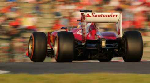 Fernando Alonso of Spain and Ferrari during the Japanese Formula One Grand Prix at Suzuka Circuit in Suzuka, Japan. Photograph: Clive Rose/Getty Images