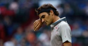 Roger Federer of Switzerland has parted company with his coach of over three years Paul Annacone. Photograph: Aly Song/Reuters
