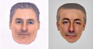 This combination photo shows two e-fit images of a man British police want to identify and trace in connection with their investigation into the disappearance of Madeleine McCann. These images believed to be of the same man will feature in the BBC1's Crimewatch appeal running at 9pm tonight. These e-fits have been drawn up based on statements and descriptions from two different witnesses who saw this man in the Praia da Luz town area in Portugal on the evening of May 3, 2007, the night that Madeleine went missing. Photograph: Metropolitan Police/Handout/Reuters