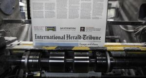 The International Herald Tribune will re-launch as the International New York Times from tomorrow as part of the company's global growth strategy. Photograph: Bloomberg