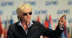 Bob Geldof pictured at the One Young World summit in South Africa two weeks ago.