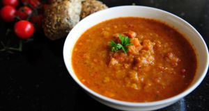 Tomato and Lentil soup. Photograph: Aidan Crawley